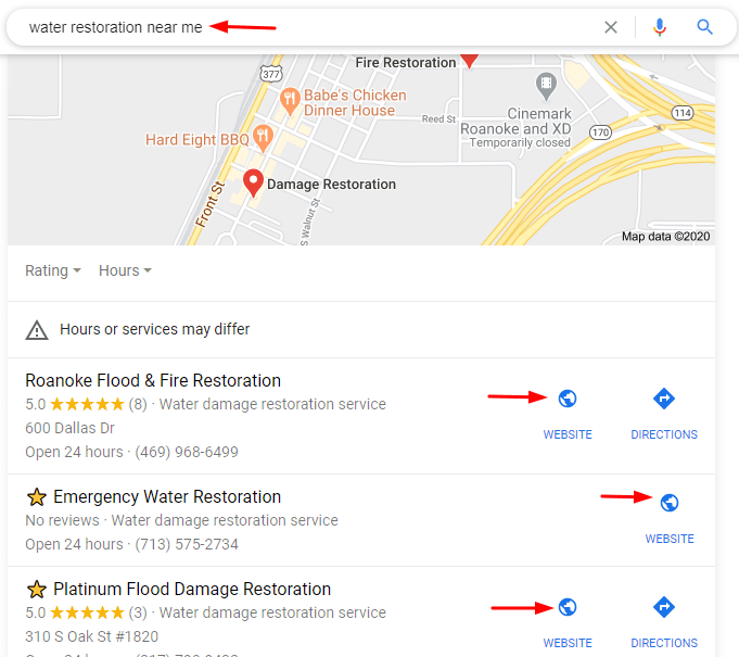 Local SEO for Water Restoration